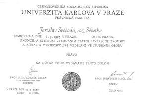 Diplom státní závěrečná zkouška